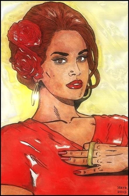 Lana Del Rey by MayaOsina